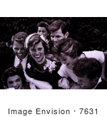 #7631 Picture Of The Kennedy Family At The Wedding Of John And Jackie