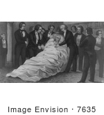 #7635 Photo Of The Death Of John Quincy Adams