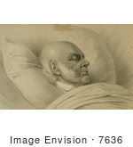 #7636 Picture Of John Quincy Adams On His Death Bed