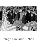 #7655 Picture of the Funeral Ceremony of Lyndon B Johnson by JVPD