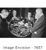 #7657 Picture Of Lbj And Others With William G Stroud Of Nasa