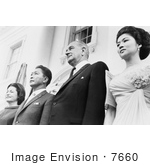 #7660 Picture Of Lady Bird And Lyndon Johnson With President And Mrs Ferdinand Marcos