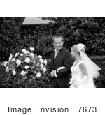 #7673 Picture Of Tricia Nixon With Richard Nixon At Her Wedding