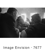 #7677 Picture Of Nixon And Press On An Airplane