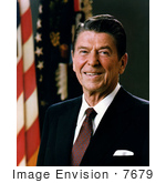 #7679 Image of Ronald Reagan, 40th President of the United States by JVPD