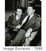 #7680 Picture of Ronald and Nancy Reagan by JVPD