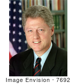 #7692 Photo of Bill Clinton, 42nd President of the USA by JVPD