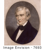 #7693 Picture Of The 9th American President William Harrison