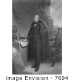 #7694 Image Of William Henry Harrison 9th President Of The United States