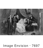 #7697 Picture of the Death of William Henry Harrison by JVPD