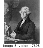 #7698 Picture Of Thomas Jefferson 3rd President Of The United States