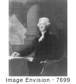 #7699 Picture Of Thomas Jefferson Sitting At A Table
