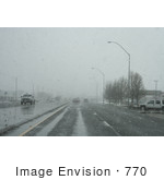 #770 Photograph Of Snowy Road Conditions