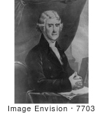 #7703 Picture Of President Thomas Jefferson