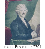 #7704 Picture Of The 3rd President Of The Usa Thomas Jefferson