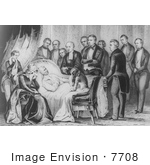 #7708 Image of the Death of Zachary Taylor by JVPD