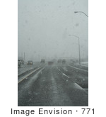 #771 Photograph of Snow Falling Over Crater Lake Highway, Medford, Oregon by Jamie Voetsch
