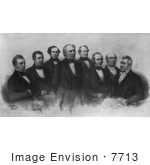 #7713 Image Of President Zachary Taylor And Cabinet