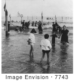 #7743 Picture Of People In The Water Coney Island