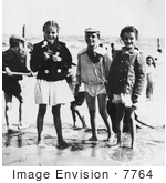 #7764 Picture Of Children On The Beach At Coney Island