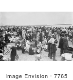 #7765 Picture Of People On A Crowded Beach Coney Island