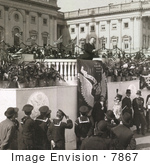 #7867 Picture Of Roosevelt Delivering Inaugural Address