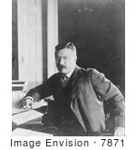 #7871 Picture Of Theodore Roosevelt In His Office