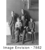 #7882 Picture of Theodore Roosevelt and His 4 Sons by JVPD