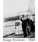 #7899 Picture Of Theodore Roosevelt On A Ship