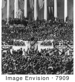 #7909 Picture Of Roosevelt During Inaugural Address