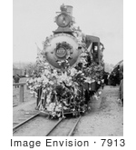 #7913 Picture Of Flower Covered Train