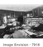 #7918 Picture Of Roosevelt'S Home Library