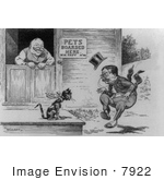 #7922 Picture of Cartoon of Theodore Roosevelt and William H. Taft by JVPD