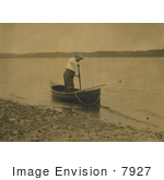 #7927 Picture Of Roosevelt In A Rowboat