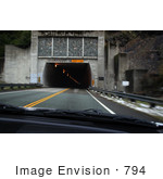 #794 Photography of Driving Towards a Tunnel by Kenny Adams
