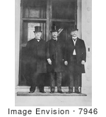 #7946 Picture Of Grover Cleveland Theodore Roosevelt And DR Francis