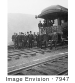 #7947 Picture of President Theodore Roosevelt and Train by JVPD