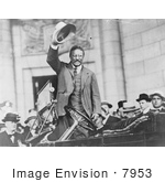 #7953 Picture of Theodore Roosevelt Waving Hat by JVPD