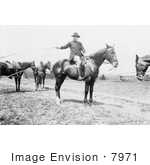 #7971 Picture Of Roosevelt On A Horse