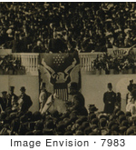 #7983 Picture Of Roosevelt Delivering Inaugural Address