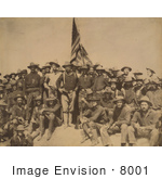 #8001 Picture Of Roosevelt And Rough Riders