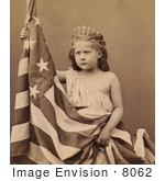 #8062 Picture Of Fontinelle Weller Holding Flag