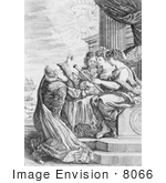 #8066 Picture Of Galileo And Women With Telescope