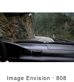 #808 Photography of Driving Beside Rock Cliff on an Oregon Highway by Kenny Adams