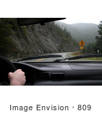 #809 Photography of Driving Towards a Curvy Road Sign in Oregon by Kenny Adams