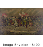 #8102 Picture Of Grant And Generals On Horses