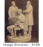 #8109 Picture Of Abraham Lincoln Ulysses S Grant Edwin M Stanton