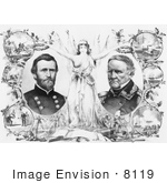 #8119 Picture Of Ulysses S Grant And Winfield Scott