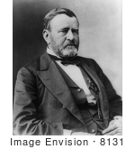 #8131 Picture of 18th President Ulysses S Grant by JVPD