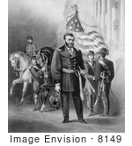 #8149 Picture of General Ulysses S Grant With Soldiers by JVPD
